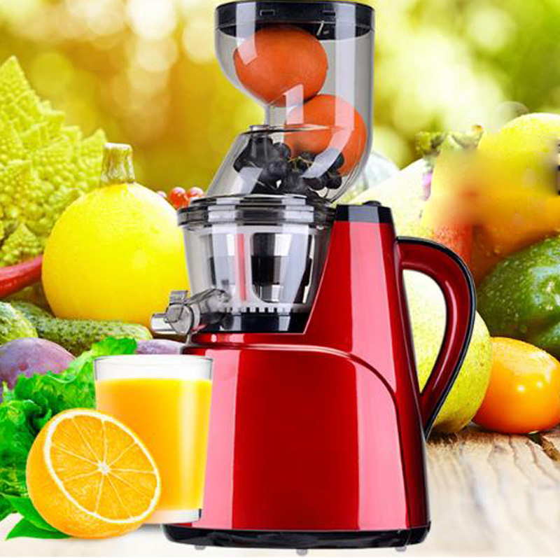 Hot sale Large Feed Chute Whole Slow Juicer wide feeding tubes Quiet low speed juice extractor for fruit vegetable citrus 2017 new q8 arrival large wide mouth feeding chute whole juicer 35000r min fruit vegetable citrus juice extractor squeezer 2200w