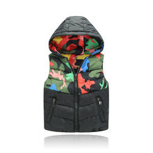Children Vest Girl Boys Waistcoat Kids Clothes Toddlers Thick Coat Autumn Winter Baby Hooded Padded Warm jacket Outerwear&coat
