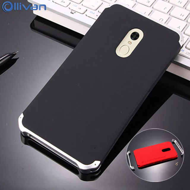 e20d613803b OLLIVAN For Xiaomi Redmi Note 4X Case Note 4 Aluminum Metal Frame 3 In 1  Hard PC Full Protective Back Cover For Redmi Note 4 4X