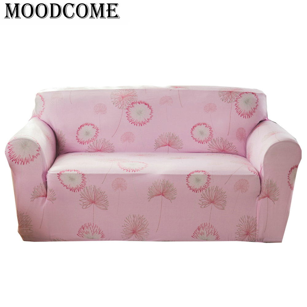 Pink Sofa Cover: Flower Pink Sofa Cover Cubre Sofa 3 Plazas Slipcovers For