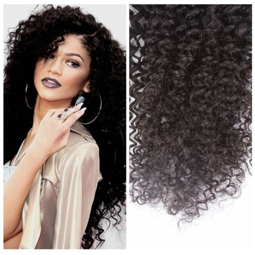 Afro Hair Weave Brazilian Human Jerry Curl Elite Bundles Bleach 100 Virgin