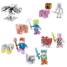 LELE 79250 Mine World Minecrafted Minifigures Steve Pigman Alex Building Blocks My Craft Brick Kids ToysCompatible with Legoeds