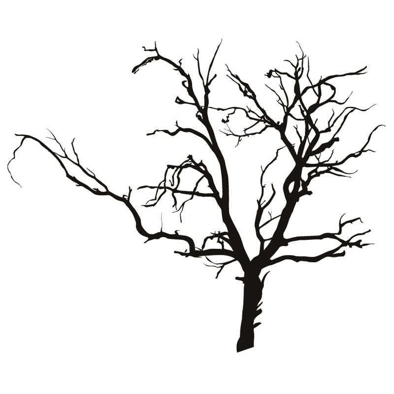DCTOP Adhesive Scary Bare Removable Black Tree Wall Sticker Living Room  Vinyl Art Wall Decal For Kids Room Decoration  In Wall Stickers From Home U0026  Garden ... Part 26