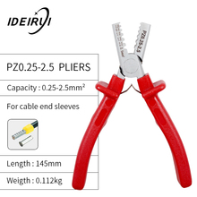 цена на Mini Small Ferrules Tool Crimper Plier for Crimping Cable End-sleeves from 0.25-2.5mm2