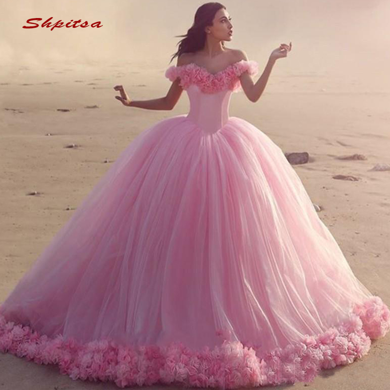 Quinceanera robes robe de bal épaule dénudée Tulle bal Debutante seize doux 16 robe vestidos de 15 anos