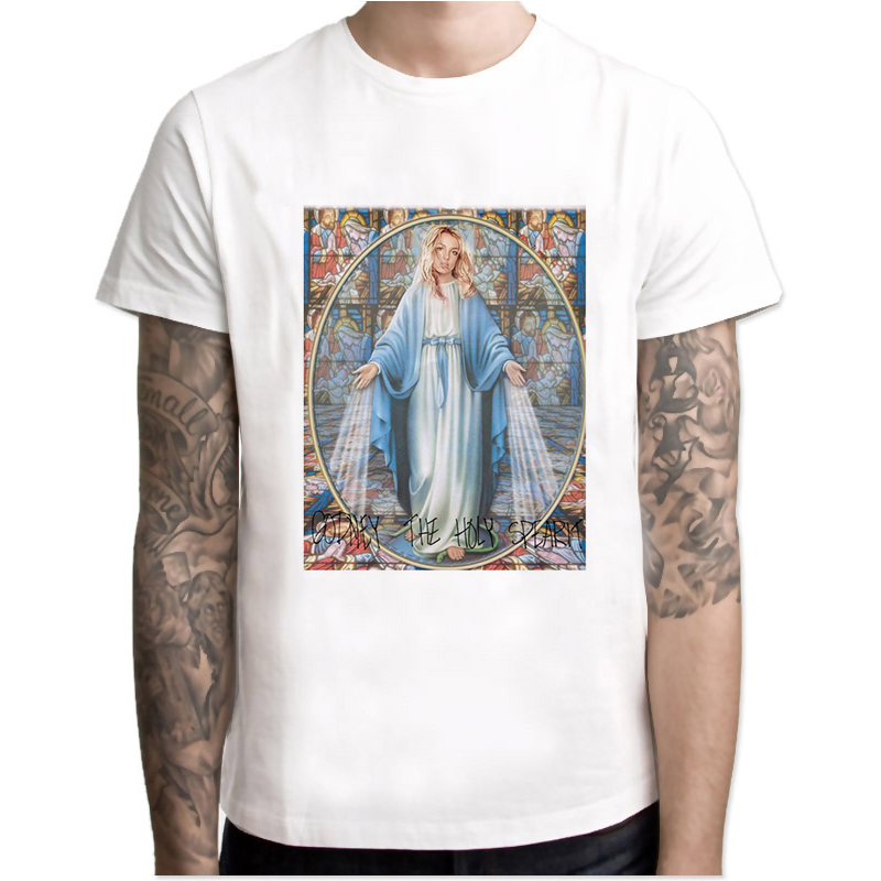 britney spears New Arrival 2018 Men Fashion Printed   T  -  Shirt   Short Sleeve Casual O-neck Tee Hipster Cool men   t     shirts   MR4020