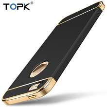 For iPhone 5 5s SE, Topk Fashion Shockproof Plating Metal Texture Skin-friendly Mobile Phone Cover Case for iPhone 5s 5 SE