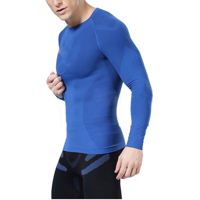 76b0e774eaa0c Newest fitness men long sleeve exercise Casual t shirt men thermal muscle  bodybuilding compression tights shirt