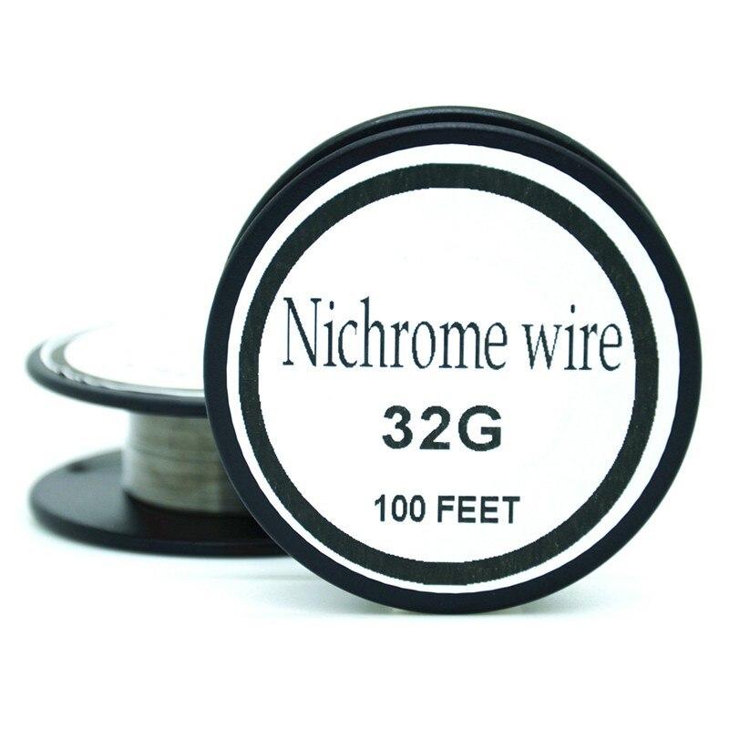 Nichrome wire 32 Gauge 100 FT 0.2mm heating wire for RDA RBA ...