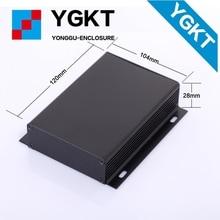 Ygk-023-4 104*28*120/4.09 «х 1.1″ х 4.76 »(ШхВхГ) мм Алюминий Экструдированный Электронный Корпус коробки может быть разработана чертежу клиента