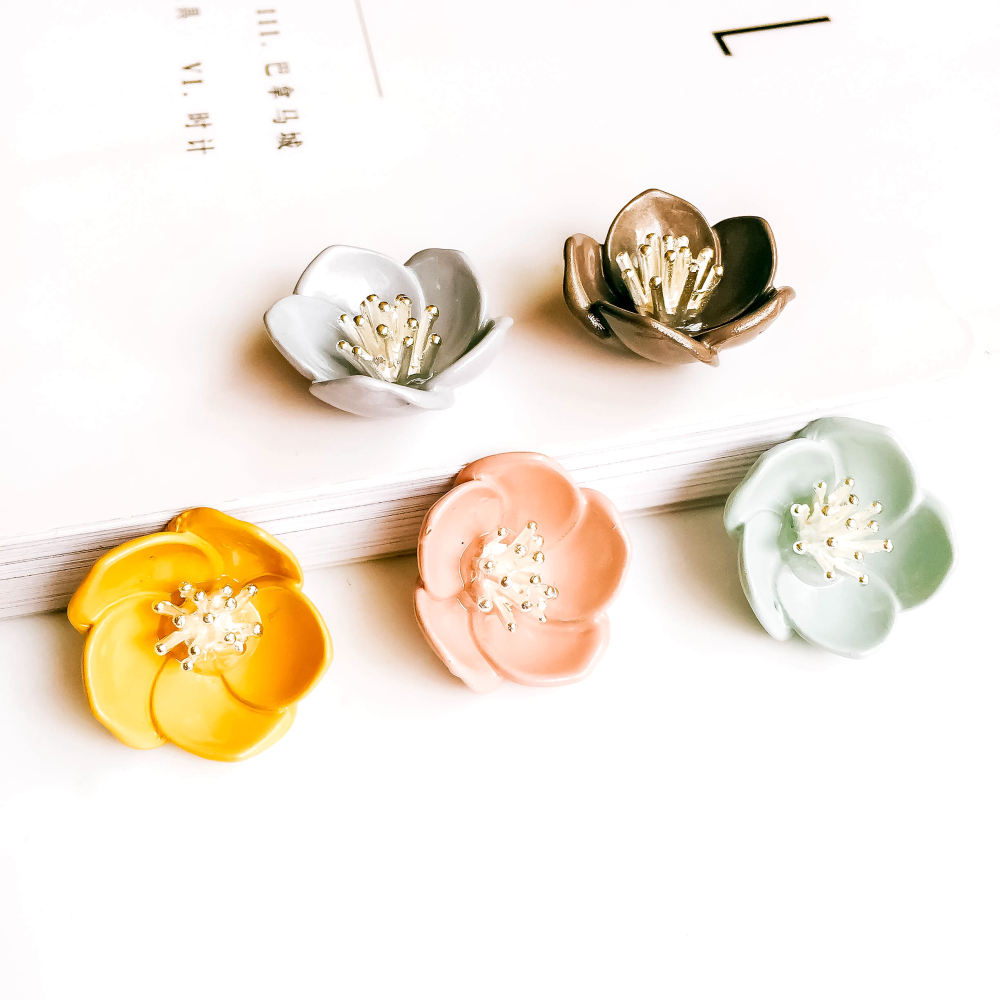 ZEROUP 6pcs 22mm Flower Charms Pendants Necklace Components Fashion Jewelry Making Findings DIY Charms Handmade Crafts