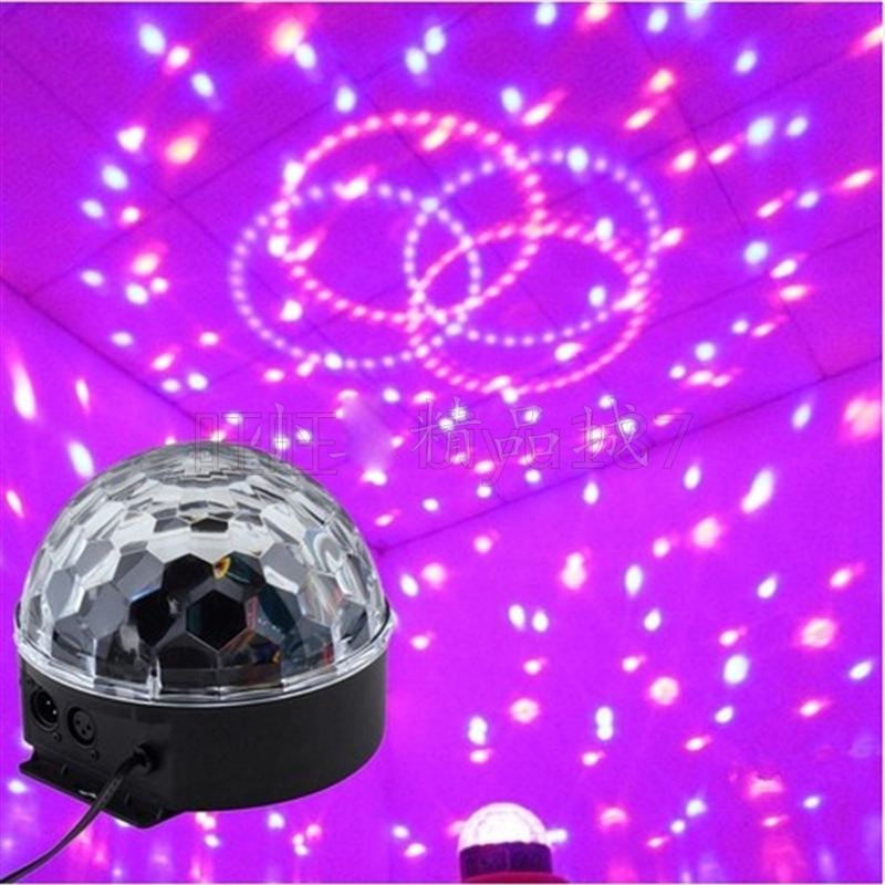 New 6CH RGB LED Crystal Magic Ball Disco DJ Stage Lighting Strobe effects Suitable for disco ballroom KTV bar stage club mini rgb led party disco club dj light crystal magic ball effect stage lighting