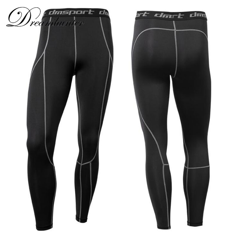Mens Compression Pants Quick-drying Tight Sweatpants Long Leggings MMA Bodybuilding Breathable Elasticity Joggers Trousers 3XL