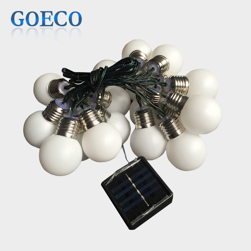 1X Led Solar Powered Led String Light 4M 10 G50 Bulb Waterproof Globe Led String Lights for ...