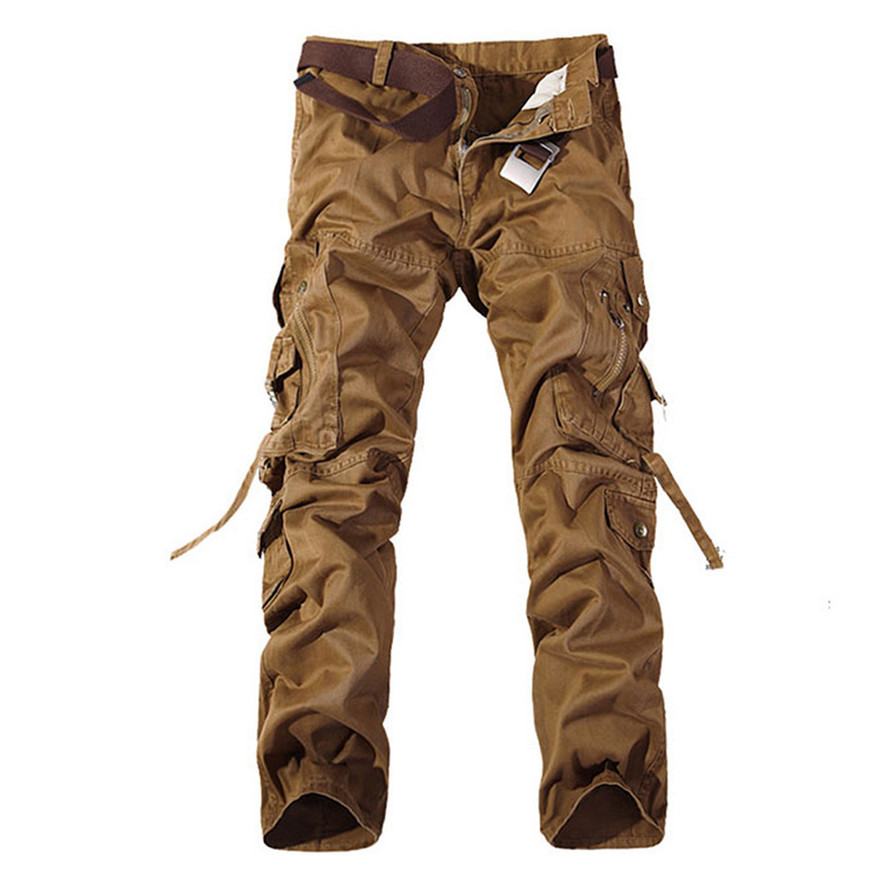 2018 New Mens Cotton Loose Man Camouflage Tactical Military Fatigues Cargo Pants Men Military Trousers Large Plus Size 42