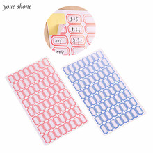 5PCS/Lots Self Adhesive Sticky White Label Writable Name Stickers Handmade DIY Blank  Paper Category Paste Price