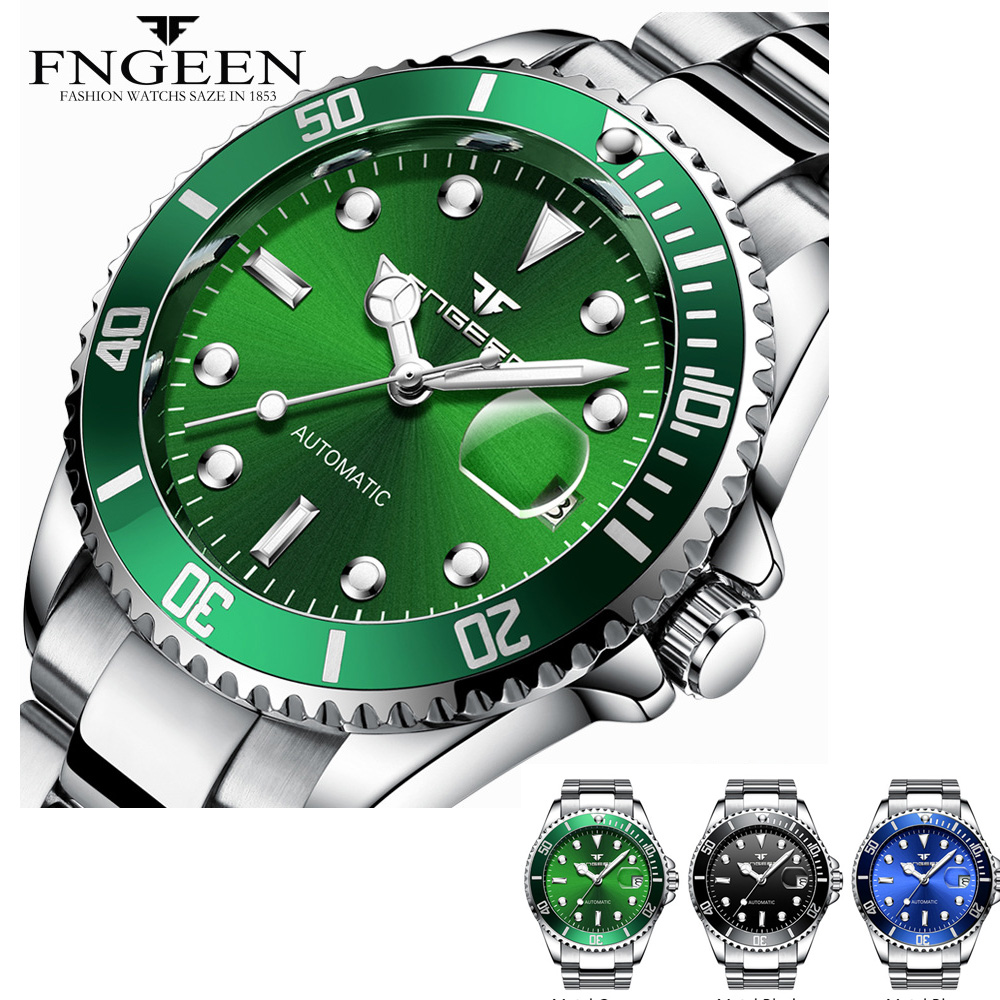 Mechanical Watches Men Water Resistant Automatic Watch Male Clock With Date Calendar relojes automaticos para hombre FNGEEN
