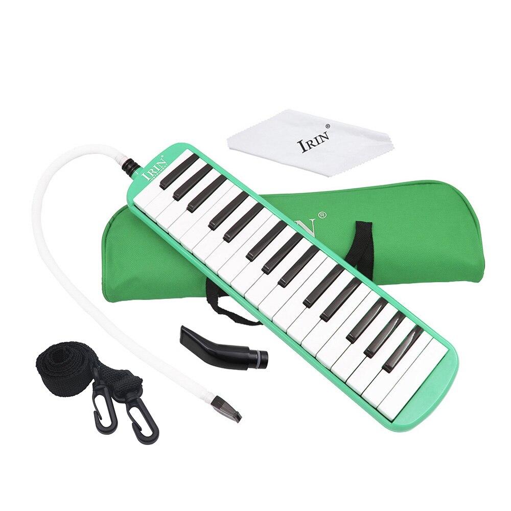 Melodica de teclas piano IRIN Melodica de 32 teclas piano Instrumento musical para principiantes amantes de musica Regalo con bolsa de transporte Rosado