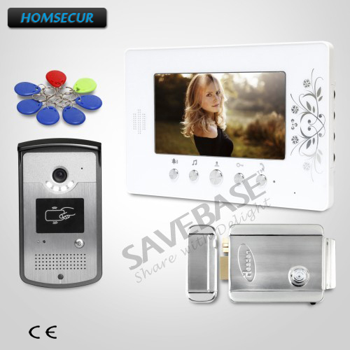 HOMSECUR Delivery From Russia 7inch Video Security Door Phone with Keyfobs Unlocking Camera for Home Security
