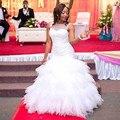 QQ Amante 2017 Auto-projetado África Moda de Luxo Caro Completa Beading Real Vestido De Novia Sexy Lace up vestidos de Casamento vestidos