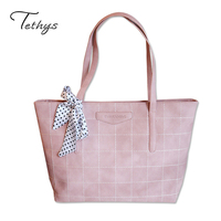 HOT SALE Women S Bag Big Striped Plaid PU Leather Ladies Handbags Shoulder Bags Clutches With