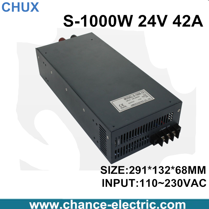 switching power supply 24V 42A 1000W 110~220VAC  single output input  for cnc cctv led light(S-1000W-24V) switching power supply 15v 66a 1000w 110 220vac single output input for cnc cctv led light s 1000w 15v