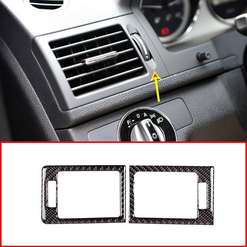 DIYUCAR Adhesivo de fibra de carbono para marco de ventilaci/ón de aire acondicionado delantero de coche para X5 E70 X6 E71 2008-2013 LHD