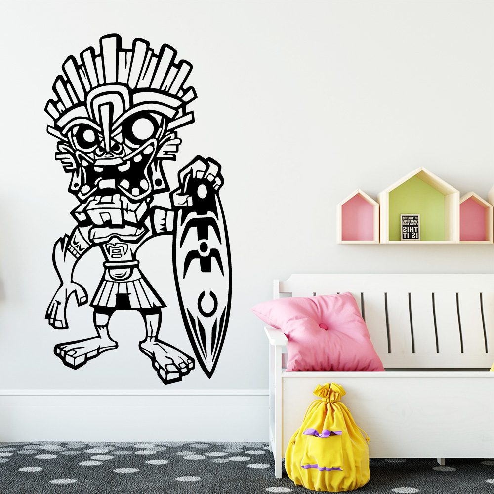 Funny Indian Vinyl Decals Wall Stickers For Baby's Rooms Wall Decal For Kids Room Decoration Wallsticker