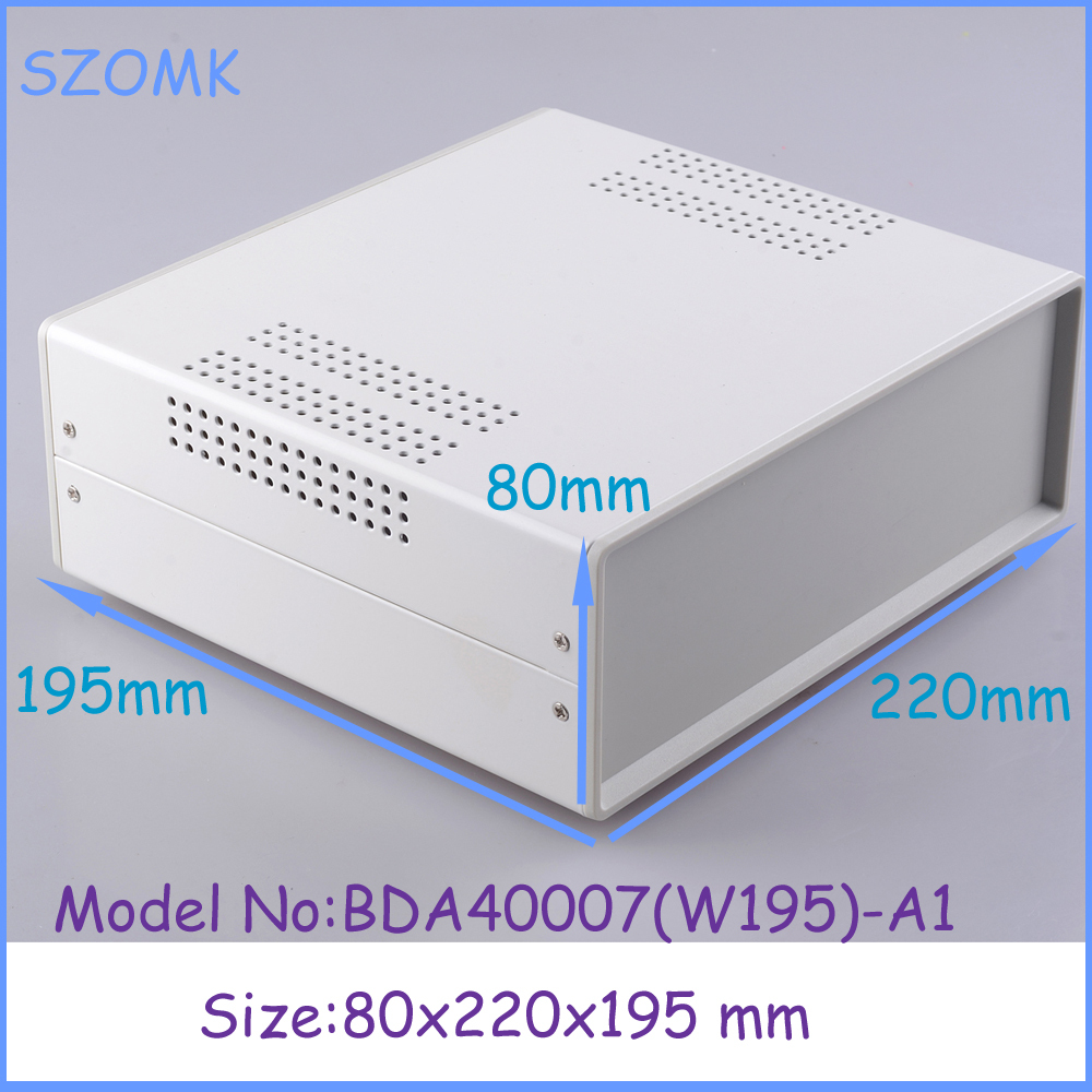 цены (1pcs)80x220x195mm small steel and iron enclosure case extruder aluminium case electronic steel iron box electrical metal box