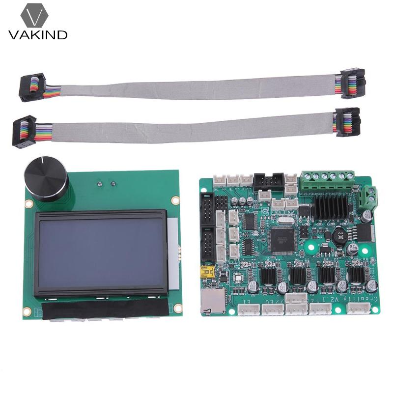 3D Printer Parts Accessories 12864 LCD Display + Control Motherboard Mainboard Main Board for Creality CR-10 3D Printers