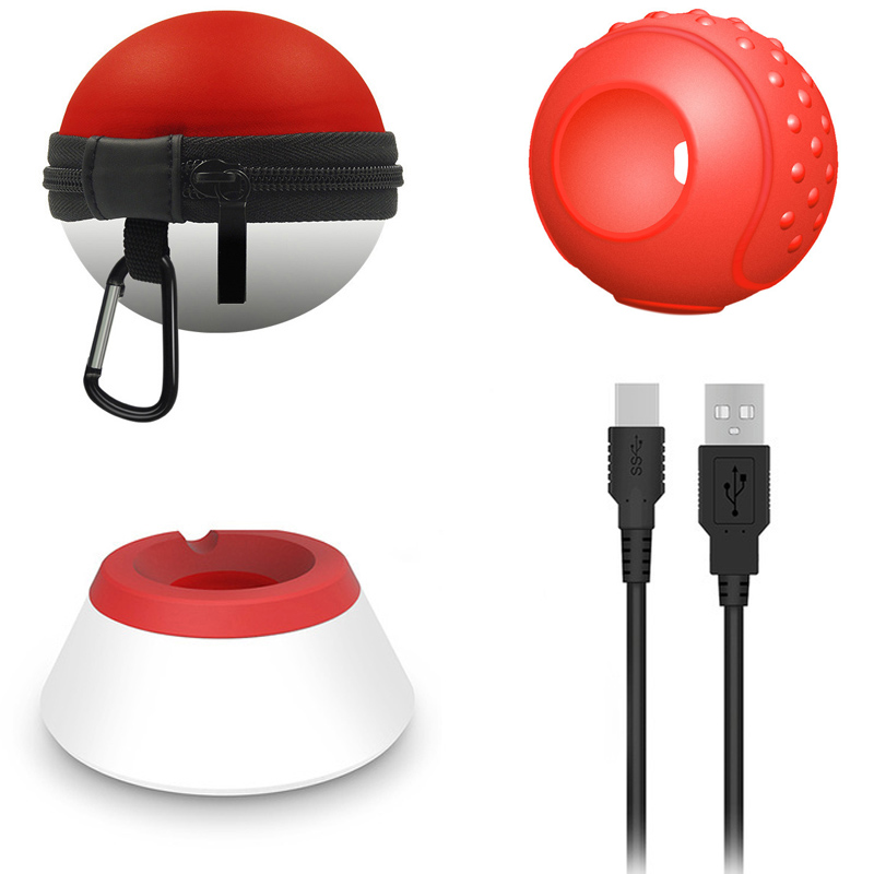 Poke Ball Plus Charging Standing Desk Tablet Stand For Nintend Switch NS Pokeball Eevee Controller Charger Holder Carry Bag Case in Bags from Consumer Electronics