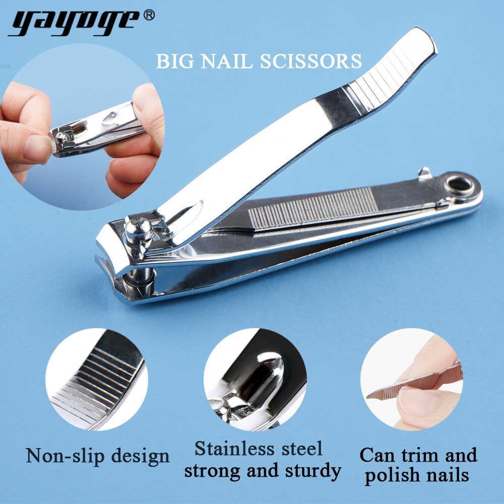 Yayoge cortadora de uñas cutícula tijera de acero inoxidable cortador profesional de manicura recortadora de punta de alta calidad con Clip Catcher Art