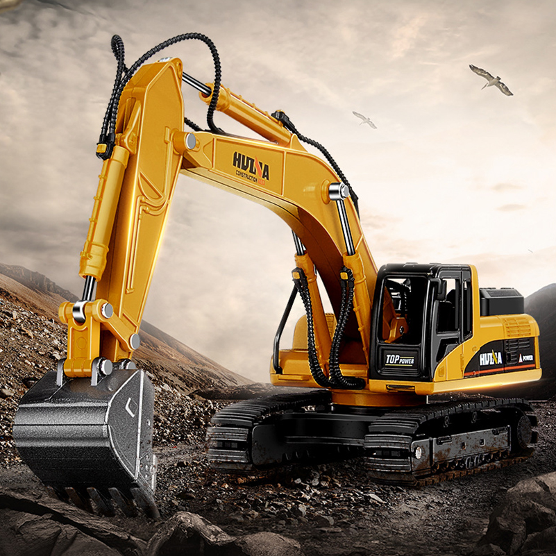 Truck Excavator Rock Drilling Cars Model Diecasts Toy Mini Alloy Engineering Van Toys Engineering Vehicles Kids Toys for Gifts