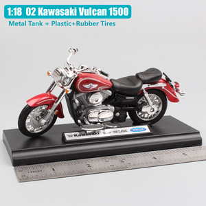 Image 2 - 1:18 scale small welly 2002 Kawasaki VN Vulcan 1500 MEAN STREAK classic motorcycle cruiser Motorbike model Diecast toy for Kids