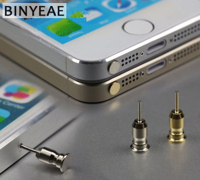 High Quality Dustproof Plug For iPhone Smart Phone Anti Dust plug 3.5mm Earphone Jack & Sim Card Needle Mobile Phone Tool Tray