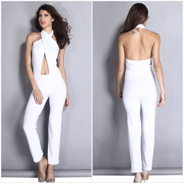 Aliexpress.com : Buy 2015 Summer New white sexy jumpsuit women ...