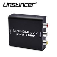 New Arrival 4k HD HDMI To AV Converter Male HDMI To Female RCA AV CVSB L
