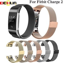 BEHUA Stainless Steel Milanese Bands for Fitbit Charge 2 Magnetic Replacement Wristband Strap for Charge 2 Watch Accessories все цены