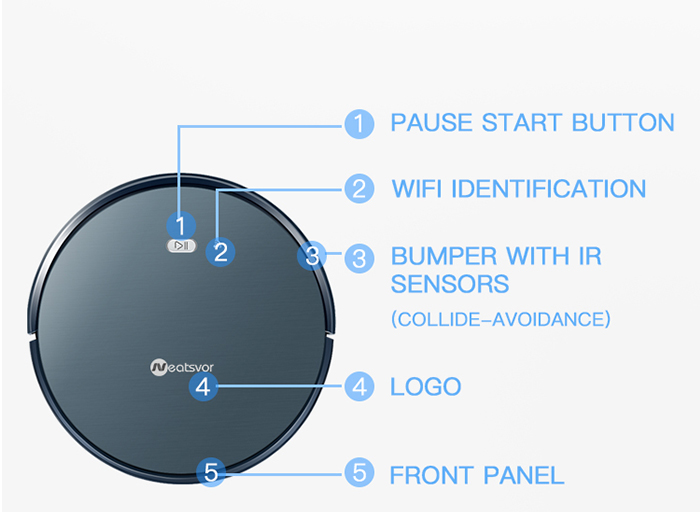 NEATSVOR X500 1800PA Robot Vacuum Cleaner for Wet or Dry Mopping with Map Navigation and Anti Collision Feature 31