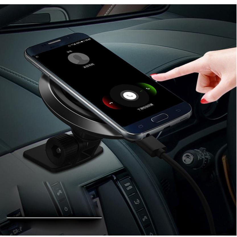 Binmer Qi Wireless Car Charger Transmitter Holder Fast Charging For Samsung Galaxy Note 7 Sep 02