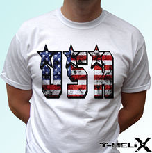 USA flag - white t shirt top America tee design - mens womens kids & baby sizes Funny Tops Tee New Unisex Funny free shipping цены онлайн