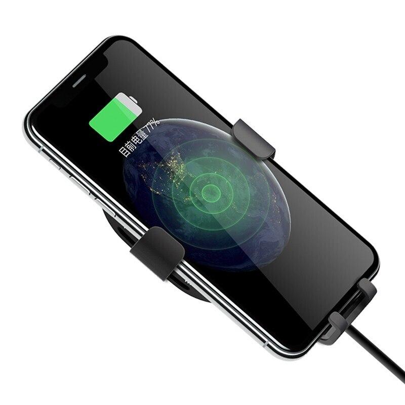 Xiaomi 70Mai Qi Car Holder For iPhone X XR Xs Max Samsung Intelligent Sensor Phone Stand NEW Xiaomi Car Wireless Charging Holder
