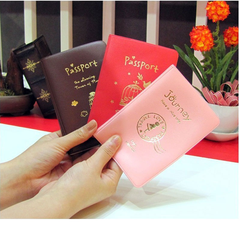 OKOKC PU Candy Passport Cover Leather Travel Tickets Passport Holder High Quality Passport Case Travel Accessories
