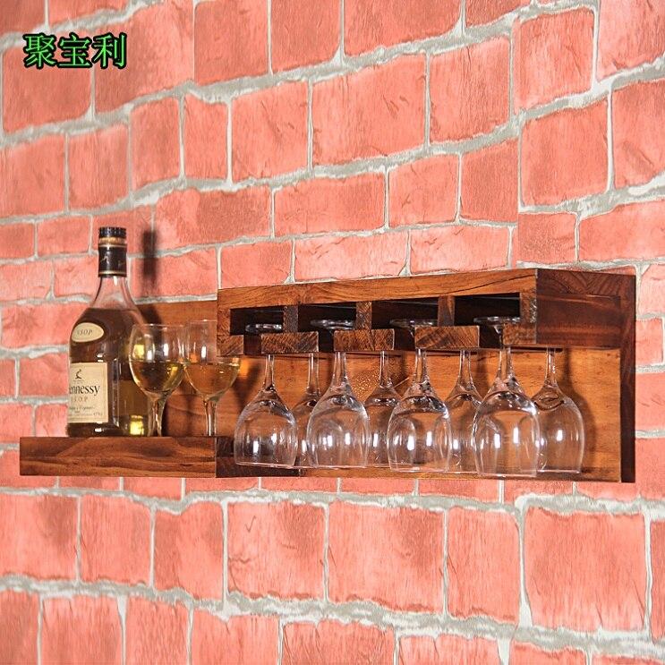 Hacer el viejo vino pared nórdico retro marco de madera Barra de ...