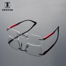 Rimless Men Eyeglasses Frame Fashion Brand Square Designer Myopia Computer Clear Optical Prescription Eyewear Frames #88012