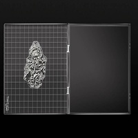 16x16 см прозрачная акриловая подкладка штампующий инструмент набор «сделай сам» для Скрапбукинг силиконовый прозрачный штамп материалы для...