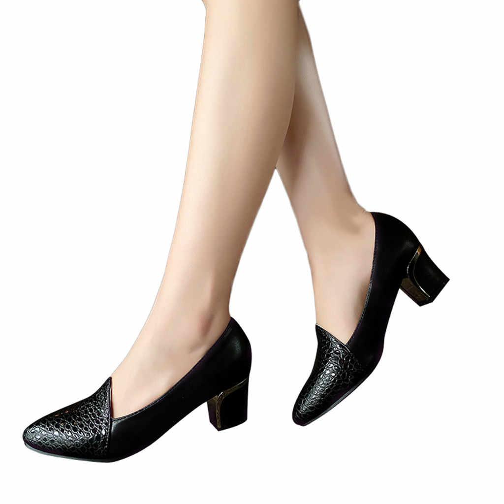 2019 Dress POADISFOO Women's Spring Summer New women's Strip High Heels Shallow Mouth Shoes OL pumps .LSS 187