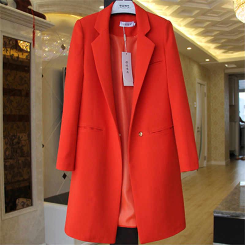 2018 весна осень блейзеры женский маленький костюм плюс размер куртка с длинными рукавами Повседневные Топы женские тонкие дикие блейзеры ветровка пальто