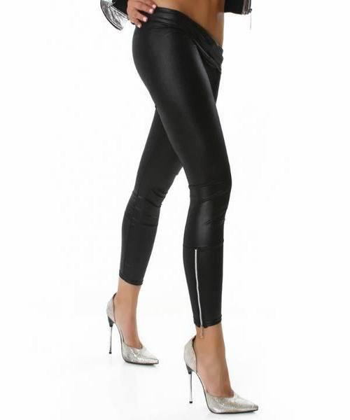 3183cc6e8a78c3 Hot sexy Black Leggings with Zip girls sexy leather leggings 4S8284+2014  Free shipping Leather leggings