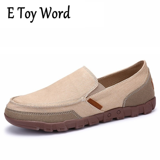 Men's Canvas Slip On Loafers Casual Shoes(Big Size Available)